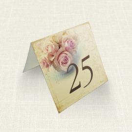 Καρτελάκι Τραπεζιού MyMastoras®- Roses