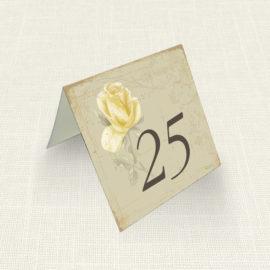 Καρτελάκι Τραπεζιού MyMastoras®- Yellow Roses