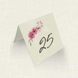 Καρτελάκι Τραπεζιού MyMastoras®- Watercolor Roses