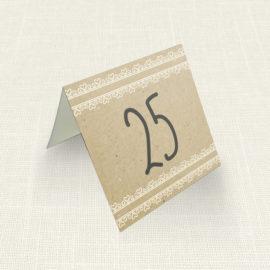 Καρτελάκι Τραπεζιού MyMastoras®- Lace Brown