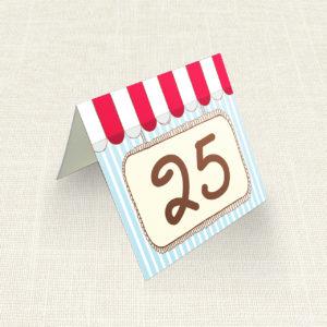 Καρτελάκι Τραπεζιού MyMastoras®- Candy Shop