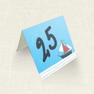 Καρτελάκι Τραπεζιού MyMastoras®- Yachting