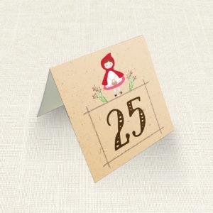 Καρτελάκι Τραπεζιού MyMastoras®- Little Red Riding Hood