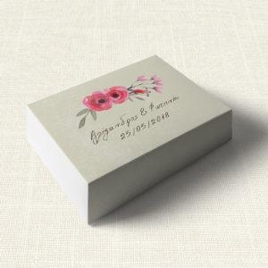 Κουτάκι Γάμου MyMastoras®- Watercolor Roses