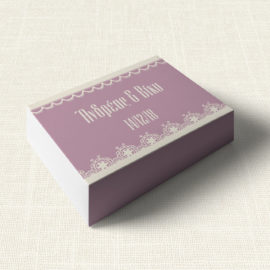Κουτάκι Γάμου MyMastoras®- Lace edge