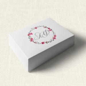 Κουτάκι Γάμου MyMastoras®- Circles Flowers