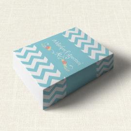 Κουτάκι Γάμου MyMastoras®- Blue ZigZag