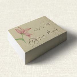 Κουτάκι Γάμου MyMastoras®- Postcard Lily