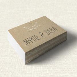Κουτάκι Γάμου MyMastoras®- Lace Brown