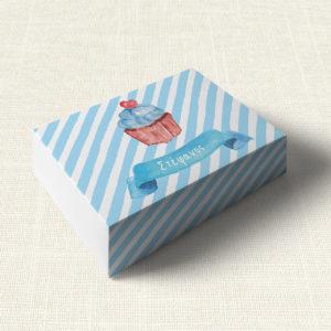 Κουτάκι Βάπτισης MyMastoras®- Blue Cupcake