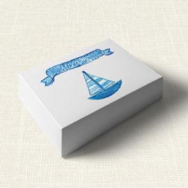Κουτάκι Βάπτισης MyMastoras®- Ribbon Boat