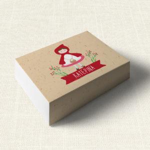 Κουτάκι Βάπτισης MyMastoras®- Little Red Riding Hood