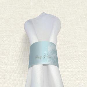 Δαχτυλίδι Πετσέτας Γάμου MyMastoras® - Carte Postale Balloon