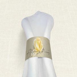 Δαχτυλίδι Πετσέτας Γάμου MyMastoras® - Yellow Roses