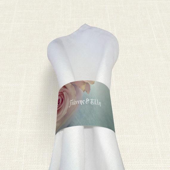 Δαχτυλίδι Πετσέτας Γάμου MyMastoras® - Old Roses