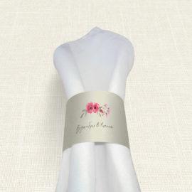 Δαχτυλίδι Πετσέτας Γάμου MyMastoras® - Watercolor Roses