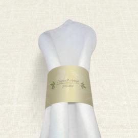 Δαχτυλίδι Πετσέτας Γάμου MyMastoras® - Olive