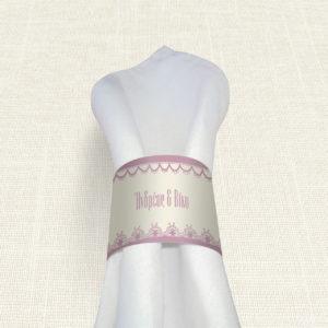 Δαχτυλίδι Πετσέτας Γάμου MyMastoras® - Lace edge