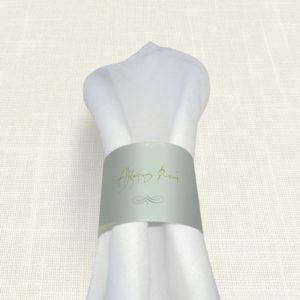 Δαχτυλίδι Πετσέτας Γάμου MyMastoras® - Watercolor Sky Gold