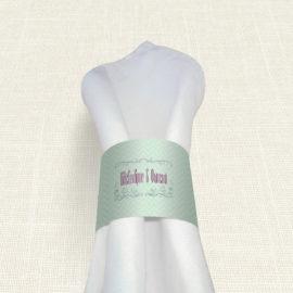 Δαχτυλίδι Πετσέτας Γάμου MyMastoras® - Heart Name