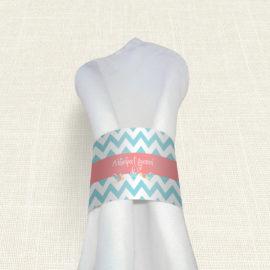 Δαχτυλίδι Πετσέτας Γάμου MyMastoras® - Blue ZigZag
