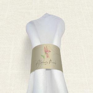 Δαχτυλίδι Πετσέτας Γάμου MyMastoras® - Postcard Lily
