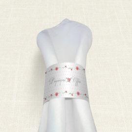 Δαχτυλίδι Πετσέτας Γάμου MyMastoras® - Dots Flowers