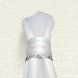 Δαχτυλίδι Πετσέτας Γάμου MyMastoras® - Roses Patern