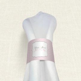 Δαχτυλίδι Πετσέτας Γάμου MyMastoras® - Polka Dots Letter