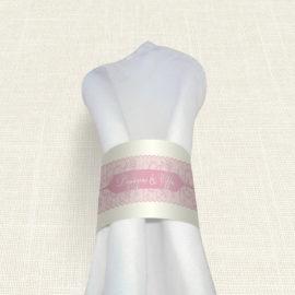 Δαχτυλίδι Πετσέτας Γάμου MyMastoras® - Old Pink