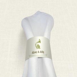 Δαχτυλίδι Πετσέτας Γάμου MyMastoras® - Gramophone