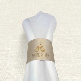 Δαχτυλίδι Πετσέτας Γάμου MyMastoras® - Calendar Birds