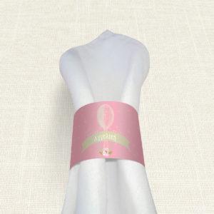 Δαχτυλίδι Πετσέτας Βάπτισης MyMastoras® – Pink Aerostat