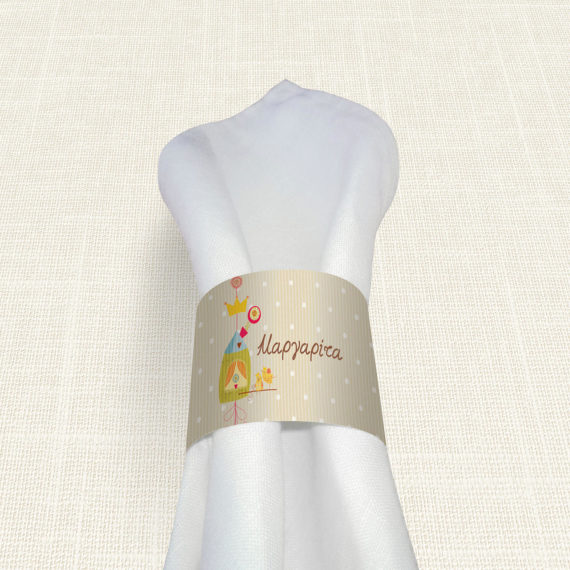 Δαχτυλίδι Πετσέτας Βάπτισης MyMastoras® – Bird House