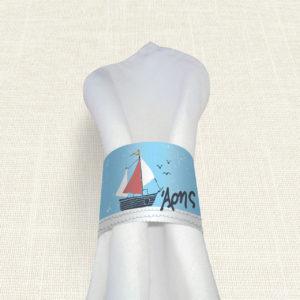 Δαχτυλίδι Πετσέτας Βάπτισης MyMastoras® – Yachting