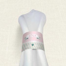 Δαχτυλίδι Πετσέτας Βάπτισης MyMastoras® – Ribbon