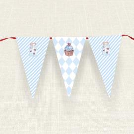 Σημαιάκια MyMastoras®- Blue Cupcake