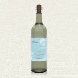 Ετικέτα Κρασιού MyMastoras®- Carte Postale Balloon