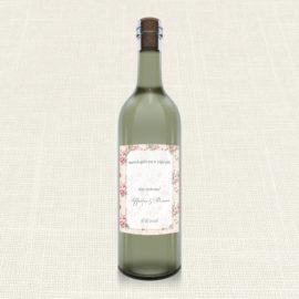 Ετικέτα Κρασιού MyMastoras®- Roses Border