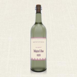 Ετικέτα Κρασιού MyMastoras®- Lace edge