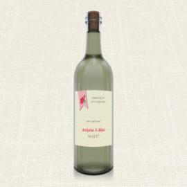 Ετικέτα Κρασιού MyMastoras®- Ribbon Roses