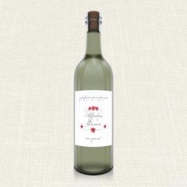Ετικέτα Κρασιού MyMastoras®- Circles Flowers
