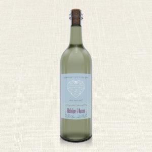 Ετικέτα Κρασιού MyMastoras®- Heart Name
