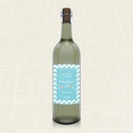 Ετικέτα Κρασιού MyMastoras®- Blue ZigZag
