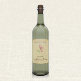 Ετικέτα Κρασιού MyMastoras®- Postcard Lily