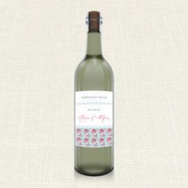 Ετικέτα Κρασιού MyMastoras®- Roses Patern