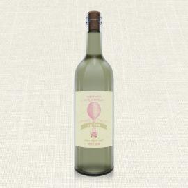 Ετικέτα Κρασιού MyMastoras®- Pink Aerostat