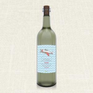 Ετικέτα Κρασιού MyMastoras®- Airplane