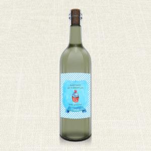 Ετικέτα Κρασιού MyMastoras®- Blue Cupcake