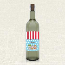 Ετικέτα Κρασιού MyMastoras®- Candy Shop